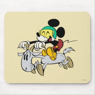 Francés Mickey el | feliz en Vespa Tapete De Ratón