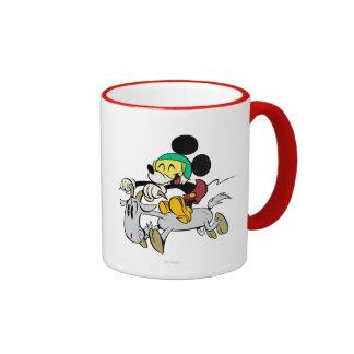 Francés Mickey el | feliz en Vespa Taza De Dos Colores