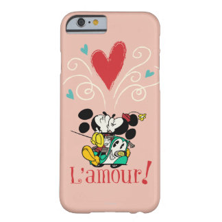 Francés Mickey el   L'amour Funda De iPhone 6 Barely There