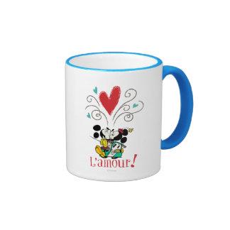 Francés Mickey el | L'amour Taza De Dos Colores