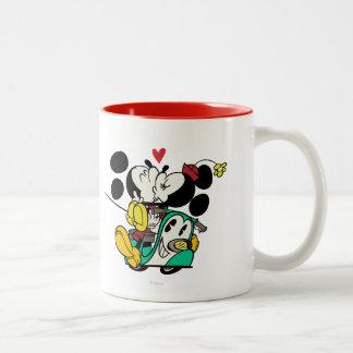 Francés Mickey el | Mickey y el besarse de Minnie Taza De Dos Tonos