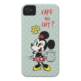 Francés Minnie el | Minnie con la tetera Case-Mate iPhone 4 Cobertura