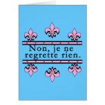 Francés ningunos productos de los pesares tarjetas