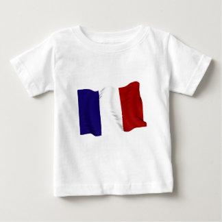 francés playera para bebé
