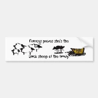 Frances the Black Sheep Bumper Sticker