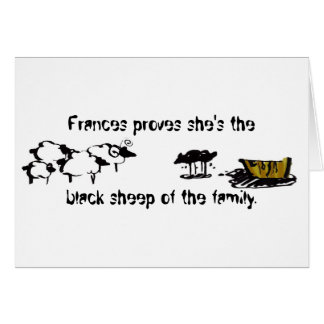 Frances the Black Sheep Greeting Card
