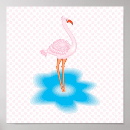 Francesca Flamingo Poster