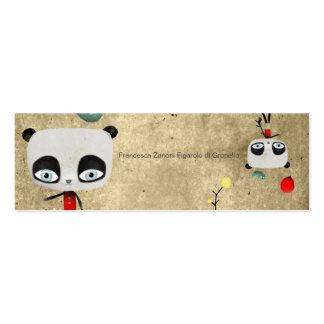 Francesca Panda Bear balloons Mini Business Card