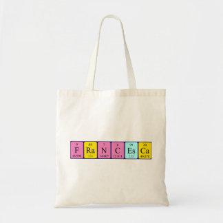 Francesca periodic table name tote bag