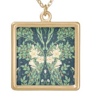 Francesca wallpaper design gold plated necklace