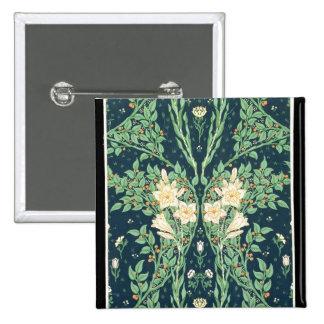 Francesca wallpaper design pinback button