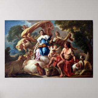 Francesco de Mura Juno (Hera) Commits Io to Argus Poster