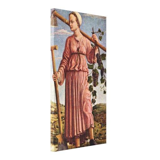 Francesco del Cossa - el Polyhymnia de la musa Lona Envuelta Para Galerías