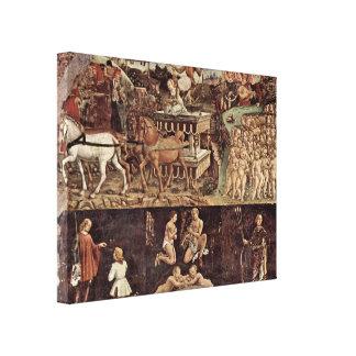 Francesco del Cossa - Triumph of Apollo details Gallery Wrapped Canvas