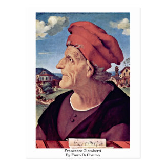 Francesco Giamberti By Piero Di Cosimo Postcard