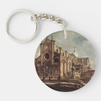 Francesco Guardi- Campo Santi Giovanni e Paolo Acrylic Keychains