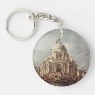 Francesco Guardi-Doge at Basilica of La Salute Single-Sided Round Acrylic Keychain