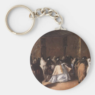 Francesco Guardi- Masked Meeting Keychain