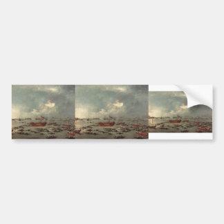 Francesco Guardi- Outward Voyage of the Bucintoro Bumper Stickers
