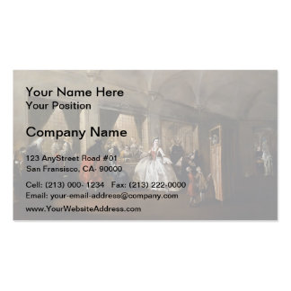 Francesco Guardi- Parlour of San Zaccaria Convent Double-Sided Standard Business Cards (Pack Of 100)