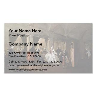 Francesco Guardi- Parlour of San Zaccaria Convent Business Card Template