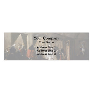 Francesco Guardi- Parlour of San Zaccaria Convent Double-Sided Mini Business Cards (Pack Of 20)