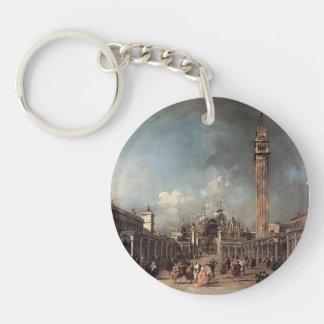 Francesco Guardi- Piazza San Marco Single-Sided Round Acrylic Keychain