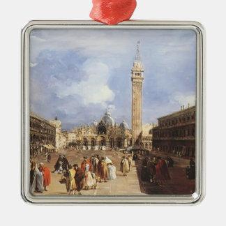 Francesco Guardi-Piazza San Marco towards Basilica Ornaments