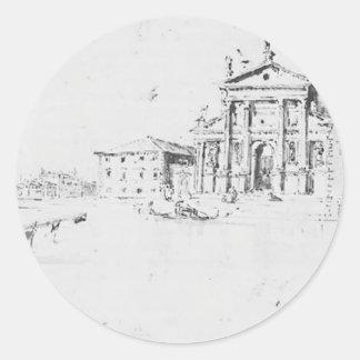 Francesco Guardi- San Giorgio Maggiore Round Stickers
