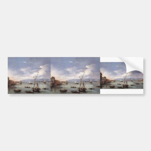 Francesco Guardi- The Lagoon from Fondamenta Nuove Bumper Sticker