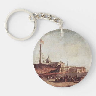Francesco Guardi- The Piazzetta Single-Sided Round Acrylic Keychain