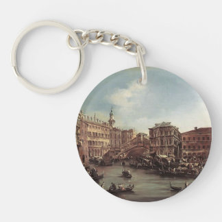Francesco Guardi- The Rialto Bridge Acrylic Keychains