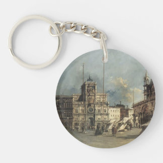 Francesco Guardi- The Torre del Orologio Single-Sided Round Acrylic Keychain