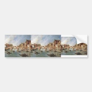 Francesco Guardi-Three Arched Bridge at Cannaregio Car Bumper Sticker