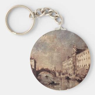 Francesco Guardi- Venice, Il Rio dei Mendicanti Keychain