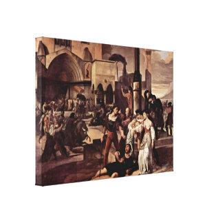 Francesco Hayez - escena siciliana 1 de las tardes Impresión En Lienzo Estirada