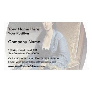 Francesco Hayez- Portrait of Antoniet Negroni Business Card