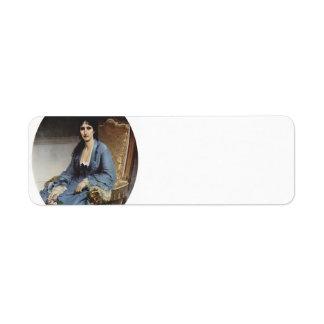 Francesco Hayez- Portrait of Antoniet Negroni Return Address Label