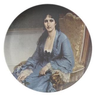 Francesco Hayez- Portrait of Antoniet Negroni Party Plates