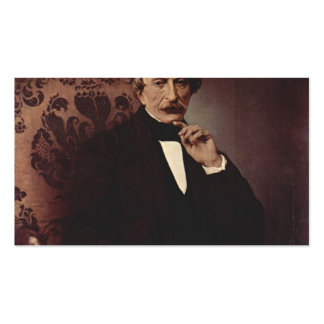 Francesco Hayez- Portrait of Massimo d'Azeglio Double-Sided Standard Business Cards (Pack Of 100)