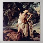Francesco Hayez - Samson and the Lion Poster