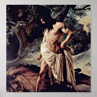 Francesco Hayez - Samson y el león Póster
