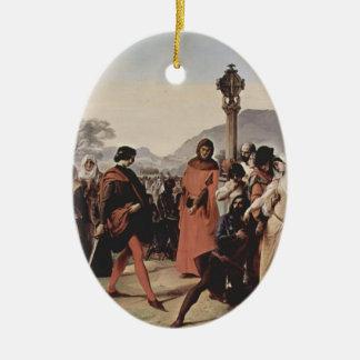 Francesco Hayez- Sicilian evenings painting Ornament