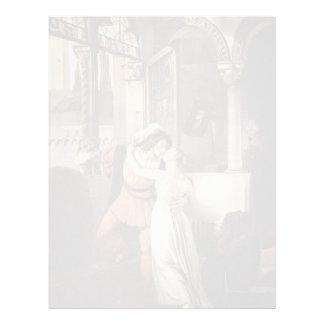 Francesco Hayez- The last kiss of Romeo and Juliet Personalized Letterhead