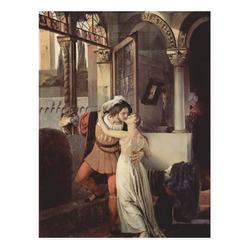 Francesco Hayez- The last kiss of Romeo and Juliet Postcard
