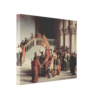 Francesco Hayez- The liberation from the prison Stretched Canvas Print