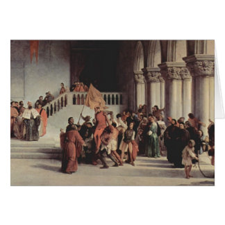 Francesco Hayez- The liberation from the prison Greeting Card