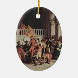 Francesco Hayez- The liberation from the prison Christmas Ornament