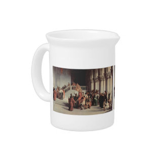 Francesco Hayez- The liberation from the prison Beverage Pitcher