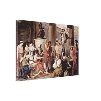 Francesco Hayez - Ulysses at court of Alcinous Stretched Canvas Prints